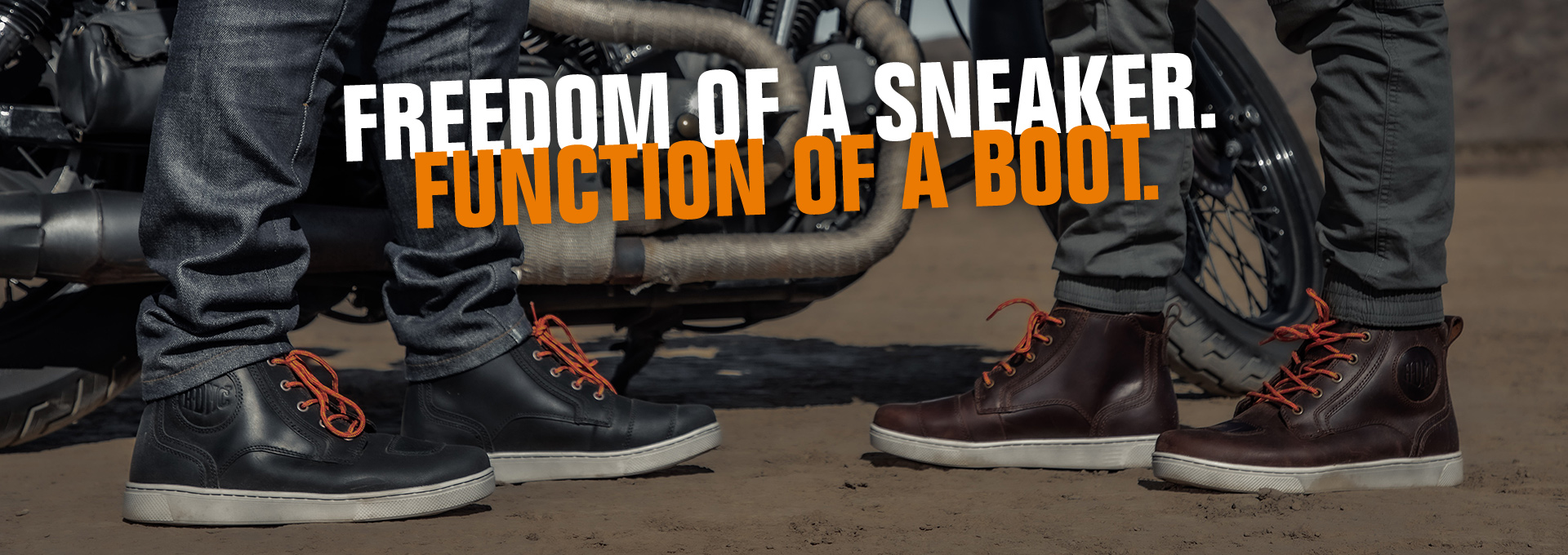 Freedom of a sneaker.  Function of a boot.