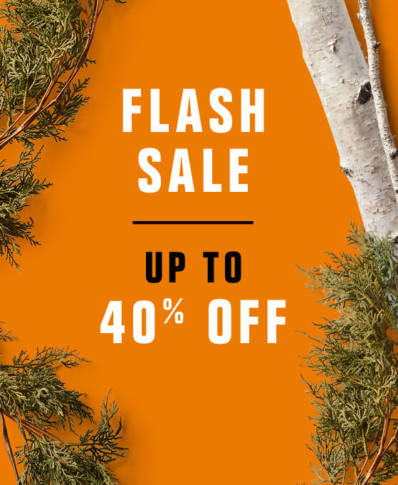 Flash Sale - up to 40% off.