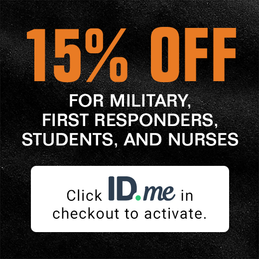 15% OFF For Military, First Respnders, Students, and Nurses.