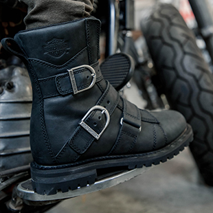 Size 10 Indian Motorcycle Mens Black Classic Lace Up Boots