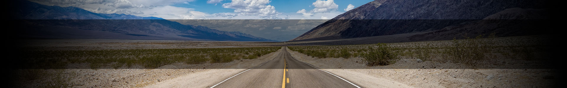 Road through the desert in the Summer.